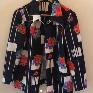 70s Authentic Grape Striped Polyester Blazer